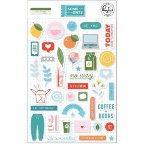 Stickers puffy SOME DAYS par Pinkfresh Studio. Scrapbooking et loisirs créatifs. Livraison rapide et cadeau dans chaque comma...