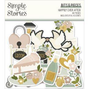 Die cuts Happily Ever After BITS & PIECES par Simple Stories. Scrapbooking et loisirs créatifs. Livraison rapide et cadeau da...