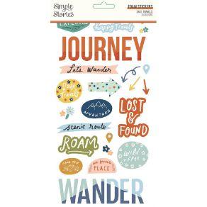 Stickers mousse SAFE TRAVELS par Simple Stories. Scrapbooking et loisirs créatifs. Livraison rapide et cadeau dans chaque com...