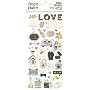 Stickers puffy HAPPILY EVER AFTER par Simple Stories. Scrapbooking et loisirs créatifs. Livraison rapide et cadeau dans chaqu...