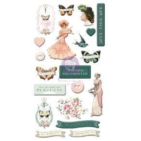 Stickers puffy MY SWEET par Prima Marketing. Scrapbooking et loisirs créatifs. Livraison rapide et cadeau dans chaque commande.