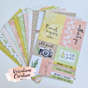 Kit collection A4 PARFUMS PRINTANIERS par Variations Créatives. Scrapbooking et loisirs créatifs. Livraison rapide et cadeau ...
