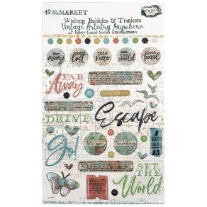 Embellissements Vintage Artistry Anywhere WISHING BUBBLES & TRINKETS par 49 and Market. Scrapbooking et loisirs créatifs. Liv...