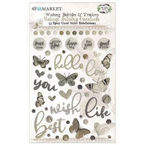 Embellissements Vintage Artistry Essentials WISHING BUBBLES & TRINKETS par 49 and Market. Scrapbooking et loisirs créatifs. L...