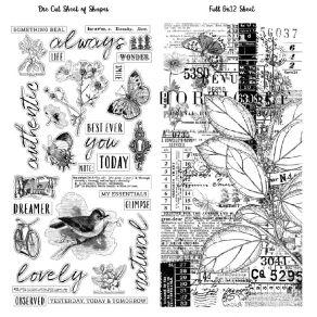 Masking tape et die cuts VINTAGE ARTISTRY ESSENTIALS par 49 and Market. Scrapbooking et loisirs créatifs. Livraison rapide et...