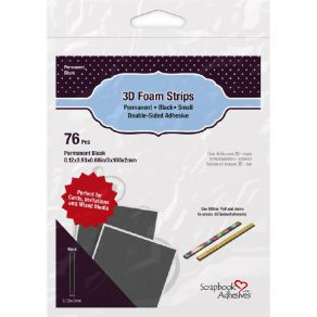 Mousse adhésive double face FOAM STRIPS BLACK par Scrapbook Adhesives. Scrapbooking et loisirs créatifs. Livraison rapide et ...