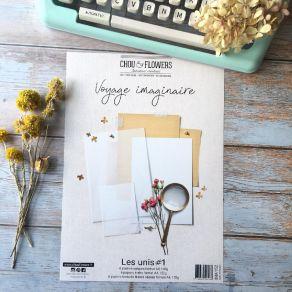 Kit collection A4 LES UNIS VOYAGE IMAGINAIRE par Chou and Flowers. Scrapbooking et loisirs créatifs. Livraison rapide et cade...