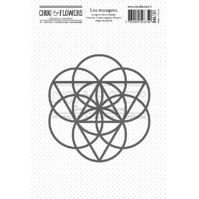 Masque ROSACE 1 par Chou and Flowers. Scrapbooking et loisirs créatifs. Livraison rapide et cadeau dans chaque commande.