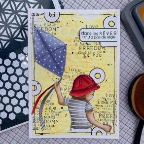 Pochoir DUO MEMORIES par Chou and Flowers. Scrapbooking et loisirs créatifs. Livraison rapide et cadeau dans chaque commande.