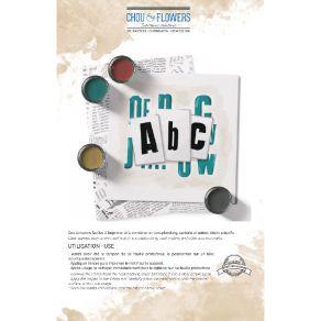 Tampon clear ABC par Chou and Flowers. Scrapbooking et loisirs créatifs. Livraison rapide et cadeau dans chaque commande.