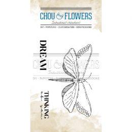 Tampon clear BUTTERFLY par Chou and Flowers. Scrapbooking et loisirs créatifs. Livraison rapide et cadeau dans chaque commande.