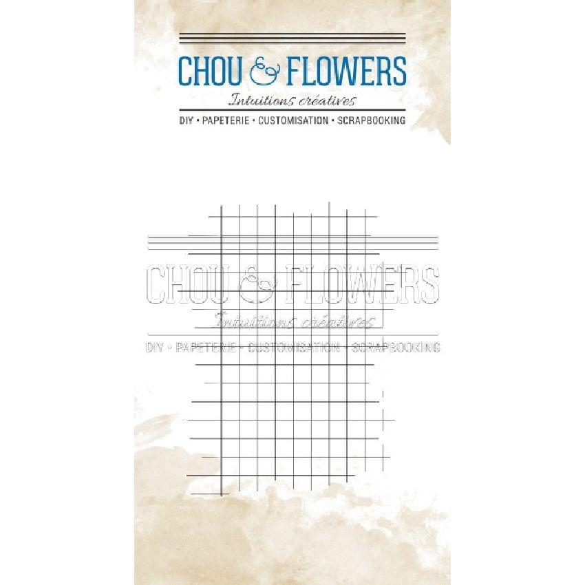 Tampon clear CARREAUX par Chou and Flowers. Scrapbooking et loisirs créatifs. Livraison rapide et cadeau dans chaque commande.