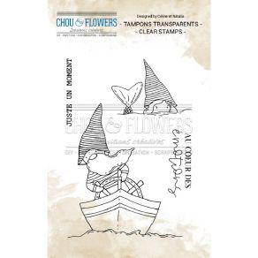 Tampon clear GNOMES MARINS par Chou and Flowers. Scrapbooking et loisirs créatifs. Livraison rapide et cadeau dans chaque com...