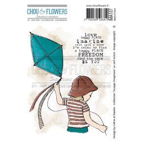 Tampon non monté CERF-VOLANT par Chou and Flowers. Scrapbooking et loisirs créatifs. Livraison rapide et cadeau dans chaque c...
