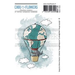 Tampon non monté LA MONTGOLFIERE par Chou and Flowers. Scrapbooking et loisirs créatifs. Livraison rapide et cadeau dans chaq...