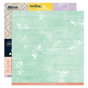Papier imprimé DOLCE VITA 7 par Florilèges Design. Scrapbooking et loisirs créatifs. Livraison rapide et cadeau dans chaque c...