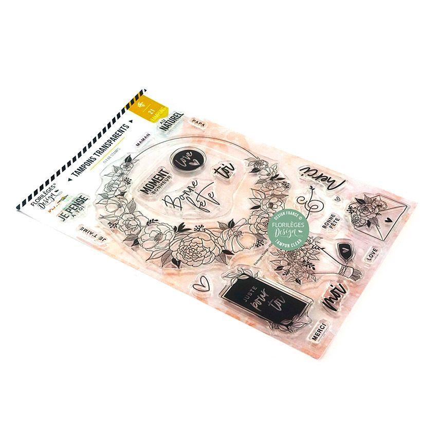 Tampons clear MOMENT BONHEUR par Florilèges Design. Scrapbooking et loisirs créatifs. Livraison rapide et cadeau dans chaque ...