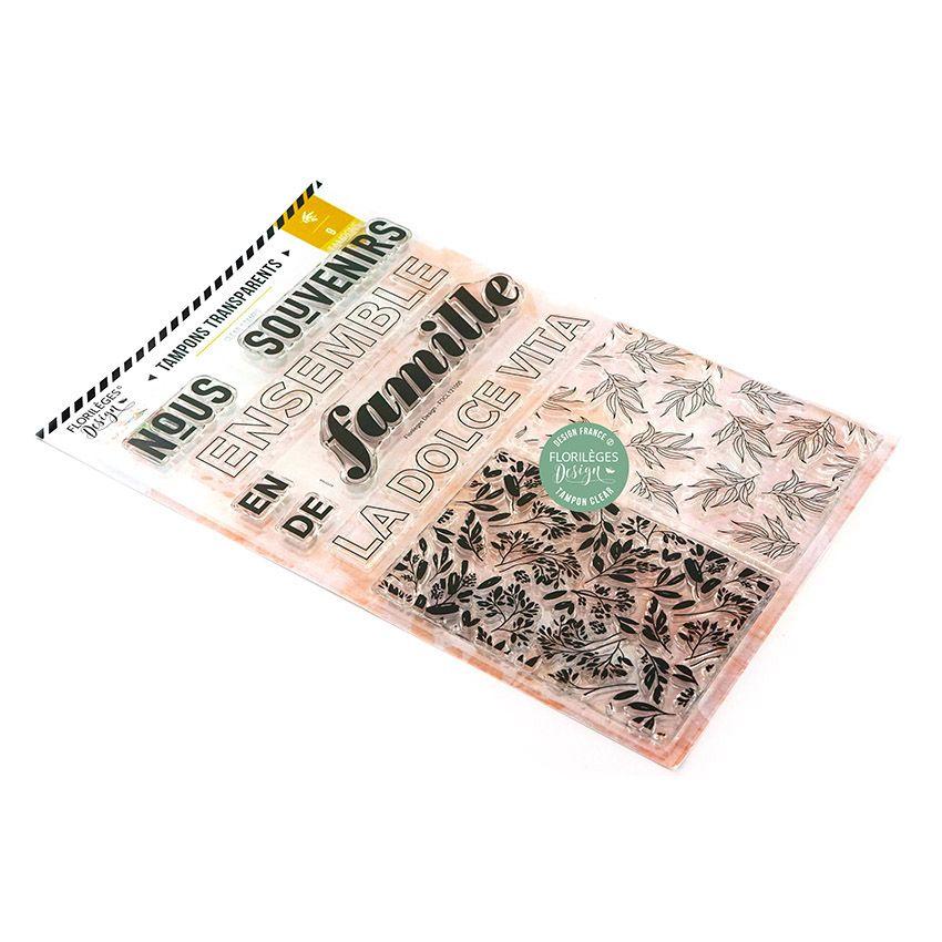 Tampons clear SOUVENIRS DE FAMILLE par Florilèges Design. Scrapbooking et loisirs créatifs. Livraison rapide et cadeau dans c...