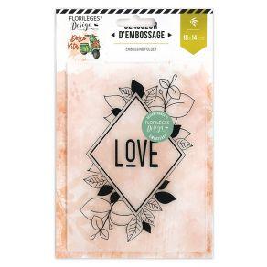 Plaque d'embossage LOSANGE NATURE par Florilèges Design. Scrapbooking et loisirs créatifs. Livraison rapide et cadeau dans ch...