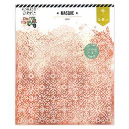 Masque ORNEMENT par Florilèges Design. Scrapbooking et loisirs créatifs. Livraison rapide et cadeau dans chaque commande.