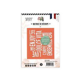 Outil de découpe CARPE DIEM par Florilèges Design. Scrapbooking et loisirs créatifs. Livraison rapide et cadeau dans chaque c...