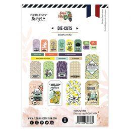 Die cuts Tags DOLCE VITA par Florilèges Design. Scrapbooking et loisirs créatifs. Livraison rapide et cadeau dans chaque comm...