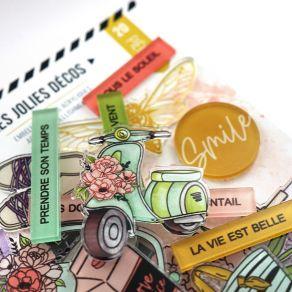 Décos acryliques DOLCE VITA par Florilèges Design. Scrapbooking et loisirs créatifs. Livraison rapide et cadeau dans chaque c...