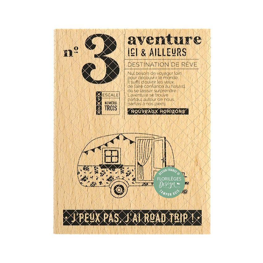 Tampon bois AVENTURE DE RÊVE par Florilèges Design. Scrapbooking et loisirs créatifs. Livraison rapide et cadeau dans chaque ...