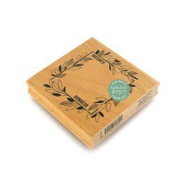 Tampon bois CADRE INSTANTS BONHEUR par Florilèges Design. Scrapbooking et loisirs créatifs. Livraison rapide et cadeau dans c...