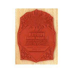 Tampon bois LE COEUR LÉGER par Florilèges Design. Scrapbooking et loisirs créatifs. Livraison rapide et cadeau dans chaque co...