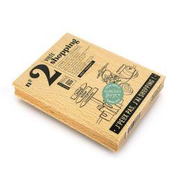 Tampon bois VIRÉE SHOPPING par Florilèges Design. Scrapbooking et loisirs créatifs. Livraison rapide et cadeau dans chaque co...
