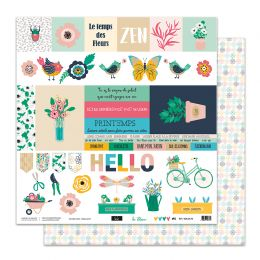 Papier imprimé SO'BLOOM 6 par Sokai. Scrapbooking et loisirs créatifs. Livraison rapide et cadeau dans chaque commande.