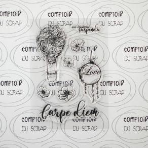 Tampon clear MONTGOLFIÈRE par Comptoir du Scrap. Scrapbooking et loisirs créatifs. Livraison rapide et cadeau dans chaque com...