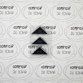 Tampon clear MOTS TRIANGLES TENDRE SOUVENIR par Comptoir du Scrap. Scrapbooking et loisirs créatifs. Livraison rapide et cade...