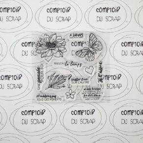 Tampon clear PRENDRE LE TEMPS par Comptoir du Scrap. Scrapbooking et loisirs créatifs. Livraison rapide et cadeau dans chaque...