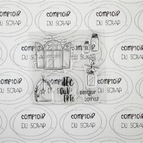 Tampon clear SENTEUR DU BONHEUR par Comptoir du Scrap. Scrapbooking et loisirs créatifs. Livraison rapide et cadeau dans chaq...