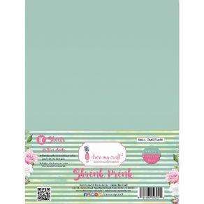 10 feuilles de plastique fou Shrink Pink Frosted DULL GREEN par Dress My Craft. Scrapbooking et loisirs créatifs. Livraison r...