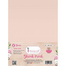 10 feuilles de plastique fou Shrink Pink Frosted NUDE PINK par Dress My Craft. Scrapbooking et loisirs créatifs. Livraison ra...