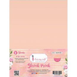 10 feuilles de plastique fou Shrink Pink Frosted PEACH par Dress My Craft. Scrapbooking et loisirs créatifs. Livraison rapide...