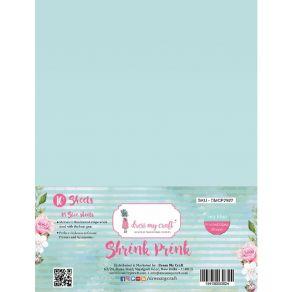 10 feuilles de plastique fou Shrink Pink Frosted SEA BLUE par Dress My Craft. Scrapbooking et loisirs créatifs. Livraison rap...