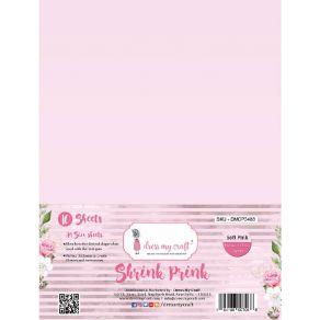 10 feuilles de plastique fou Shrink Pink Frosted SOFT PINK par Dress My Craft. Scrapbooking et loisirs créatifs. Livraison ra...