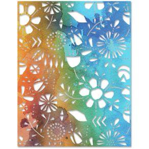 Outils de découpe Tim Holtz FOLK FLOWERS par Sizzix. Scrapbooking et loisirs créatifs. Livraison rapide et cadeau dans chaque...
