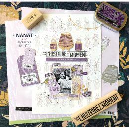 Tampon bois PETITE CIGALE par Florilèges Design. Scrapbooking et loisirs créatifs. Livraison rapide et cadeau dans chaque com...