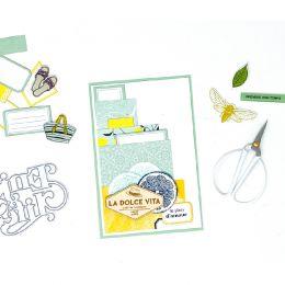 Embellissements bois DOLCE VITA par Florilèges Design. Scrapbooking et loisirs créatifs. Livraison rapide et cadeau dans chaq...