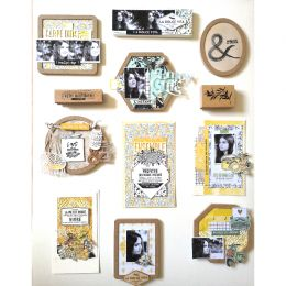 Papier imprimé DOLCE VITA 6 par Florilèges Design. Scrapbooking et loisirs créatifs. Livraison rapide et cadeau dans chaque c...