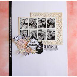 Papier Uni N°16 ROSE CORAIL par Florilèges Design. Scrapbooking et loisirs créatifs. Livraison rapide et cadeau dans chaque c...