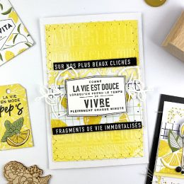 Papier uni n°31 JAUNE CITRON par Florilèges Design. Scrapbooking et loisirs créatifs. Livraison rapide et cadeau dans chaque ...