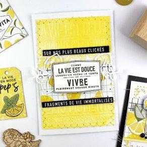Tampon bois LA VIE EST DOUCE par Florilèges Design. Scrapbooking et loisirs créatifs. Livraison rapide et cadeau dans chaque ...