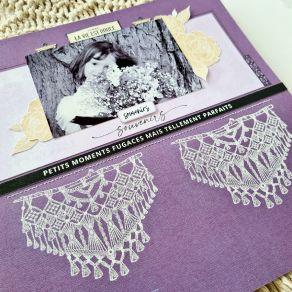Tampon bois LARGE MACRAMÉ par Florilèges Design. Scrapbooking et loisirs créatifs. Livraison rapide et cadeau dans chaque com...