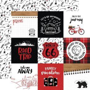 Papier imprimé Let's Go Anywhere JOURNALING CARDS 10X10CM par Echo Park. Scrapbooking et loisirs créatifs. Livraison rapide e...